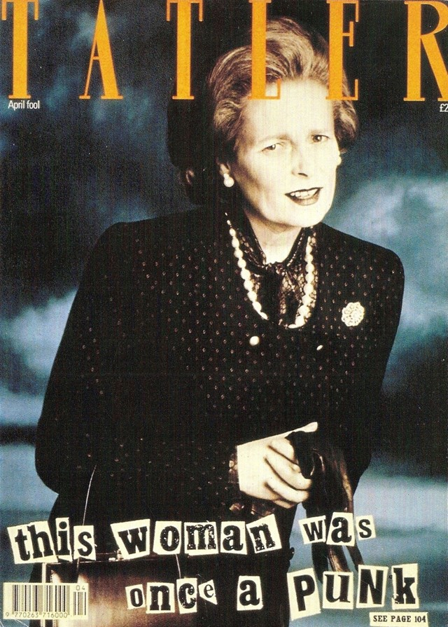 """This woman was once a punk"" Tatler cover, Dazed Digital"