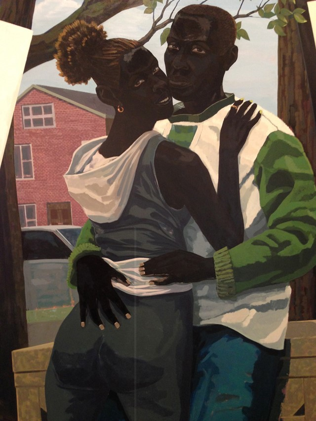 Kerry James Marshall's fluro abstract paintings