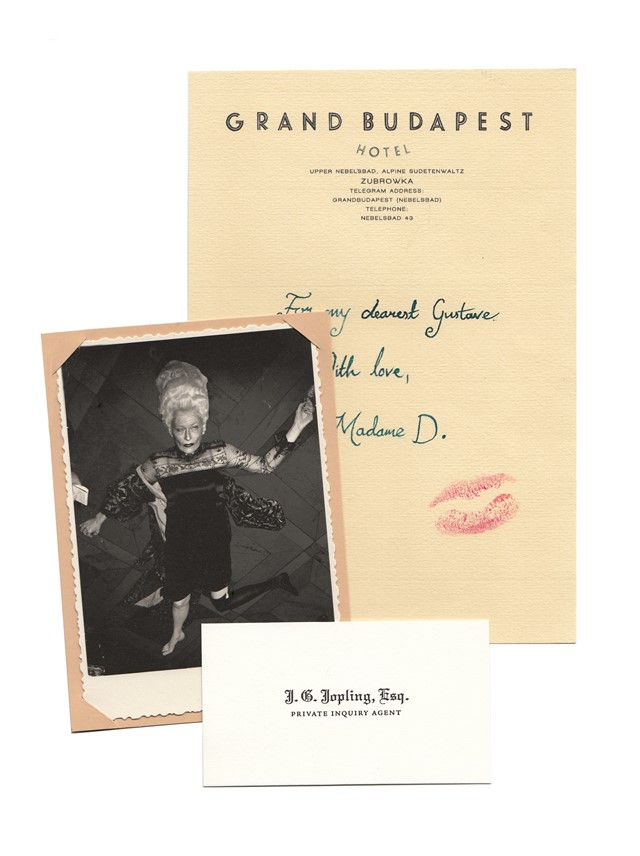 Tilda Swinton, Grand Budapest Hotel, Jopling's business card