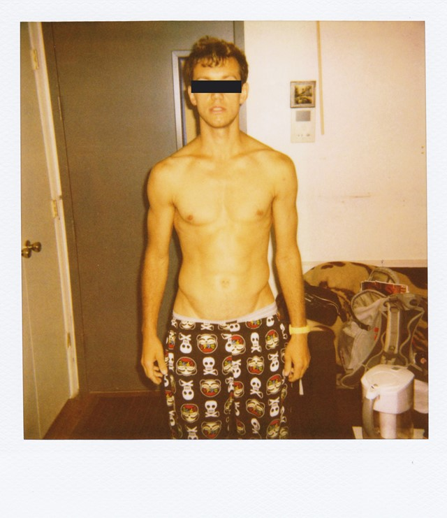 Male model polaroid