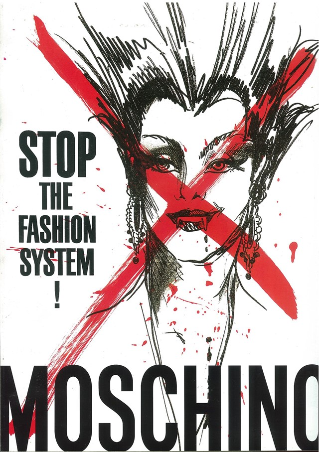 Moschino: Stop the fashion system advert