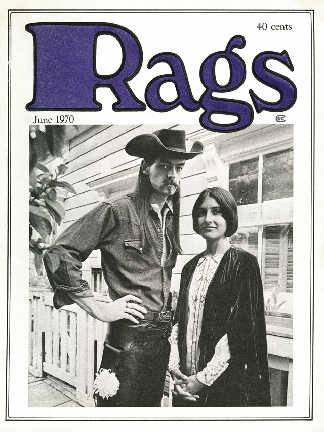 Rags Magazine Cover, Issue 1 1970