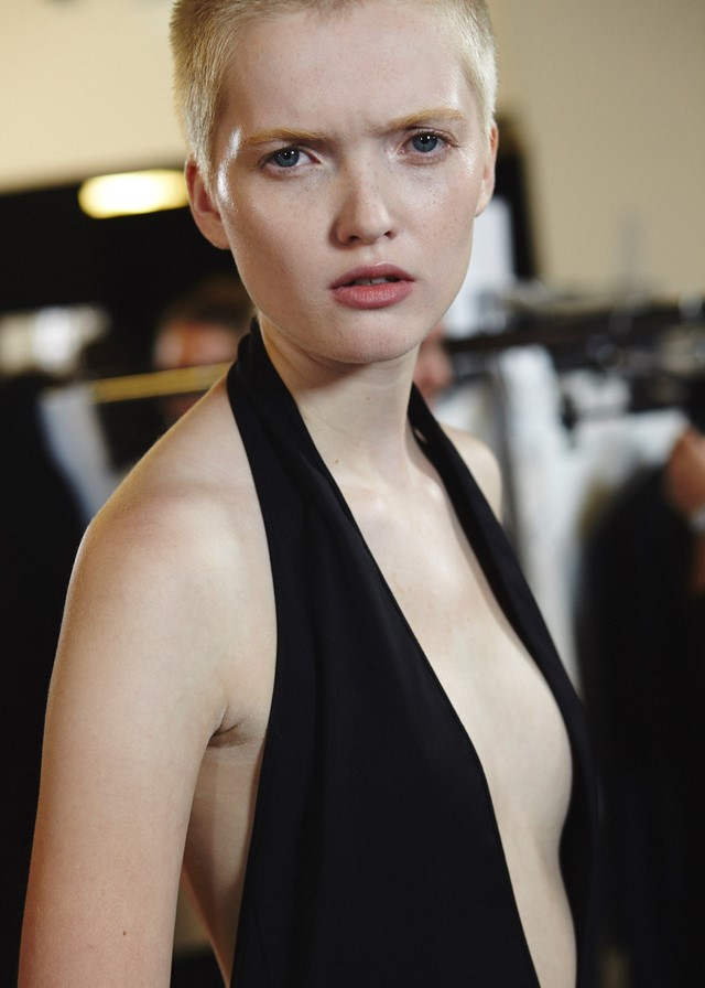 Ruth Bell backstage at Versus Versace SS16 Lucie Rox