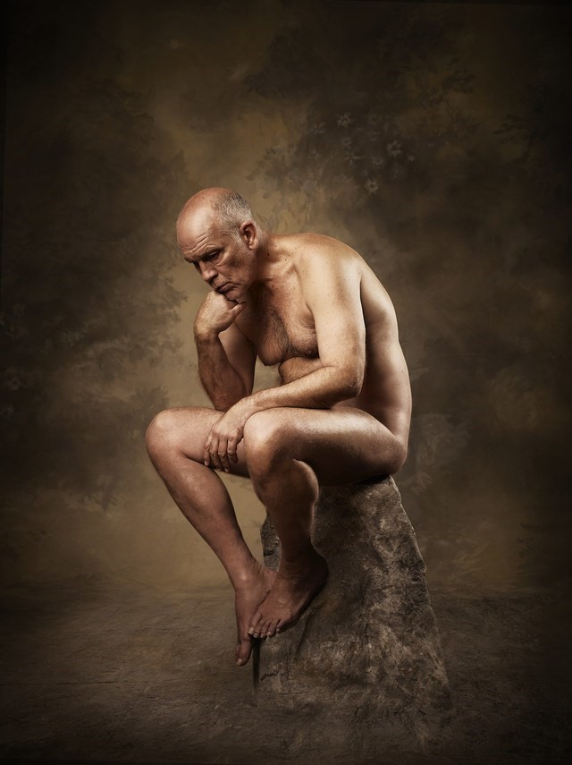 John Malkovich poses nude for new album cover