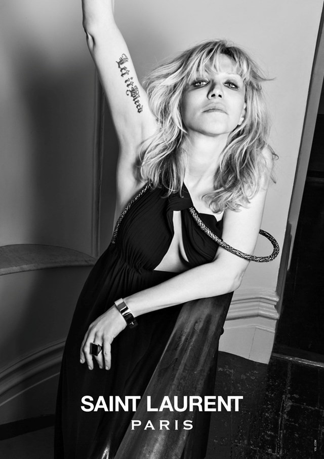 Courtney Love Saint Laurent Hedi Slimane