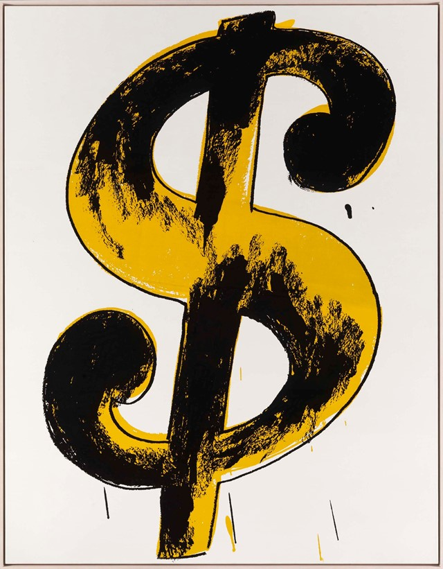 Andy Warhol, Dollar Sign, 1981