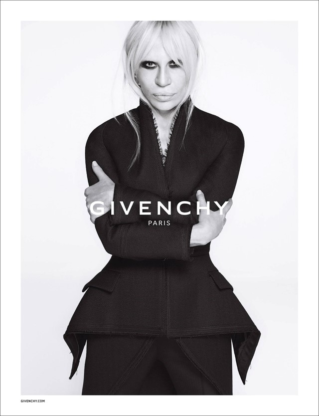 Donatella Versace for Givenchy AW15 campaign
