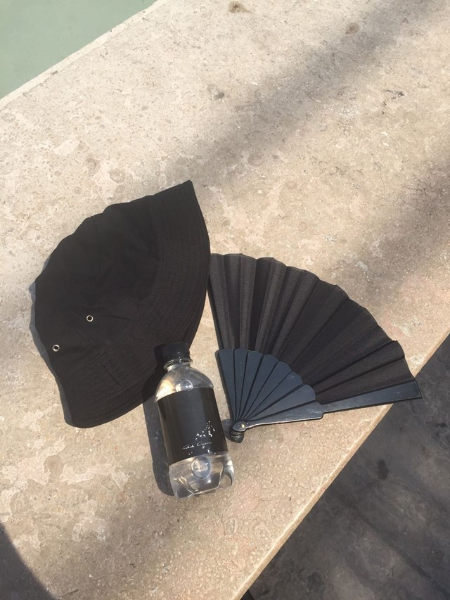 rick owens ss18 paris goth black summer kit fan hat