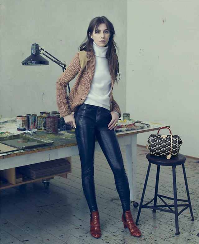 Charlotte Gainsbourg louis vuitton aw14 campaign