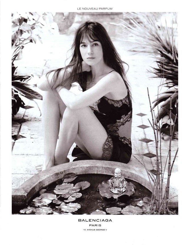 charlotte gainsbourg balenciaga 2009 fragrance paris