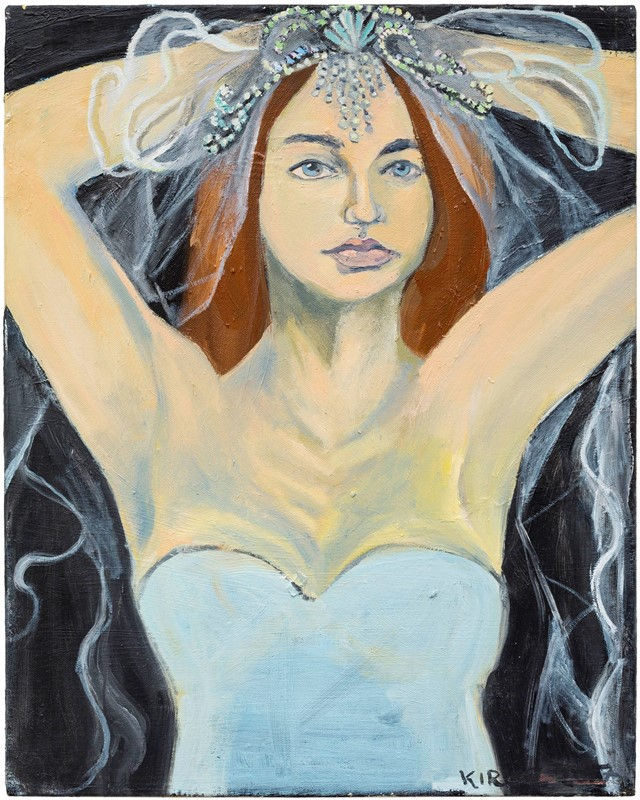 Kirke, Jemima, Lola as a Bride, 2017, Oil on canva