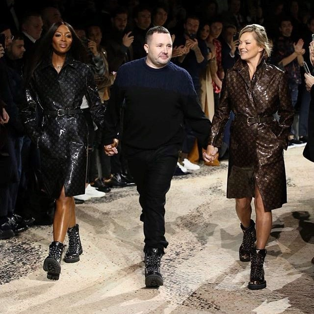 naomi campbell kate moss louis vuitton aw18 kim jones