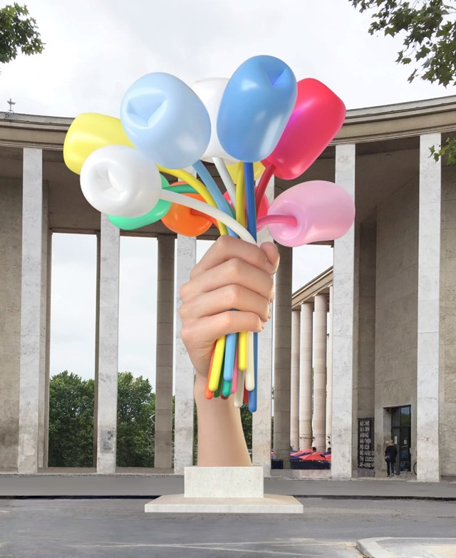 Jeff Koons, Bouquet of Tulips (2016)