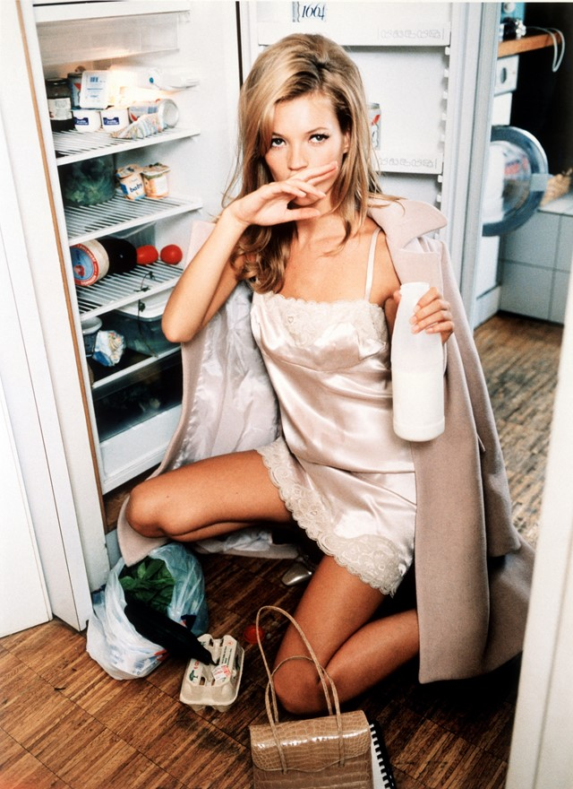 Milk, Kate Moss, Vogue US, 1995, Print on barythé