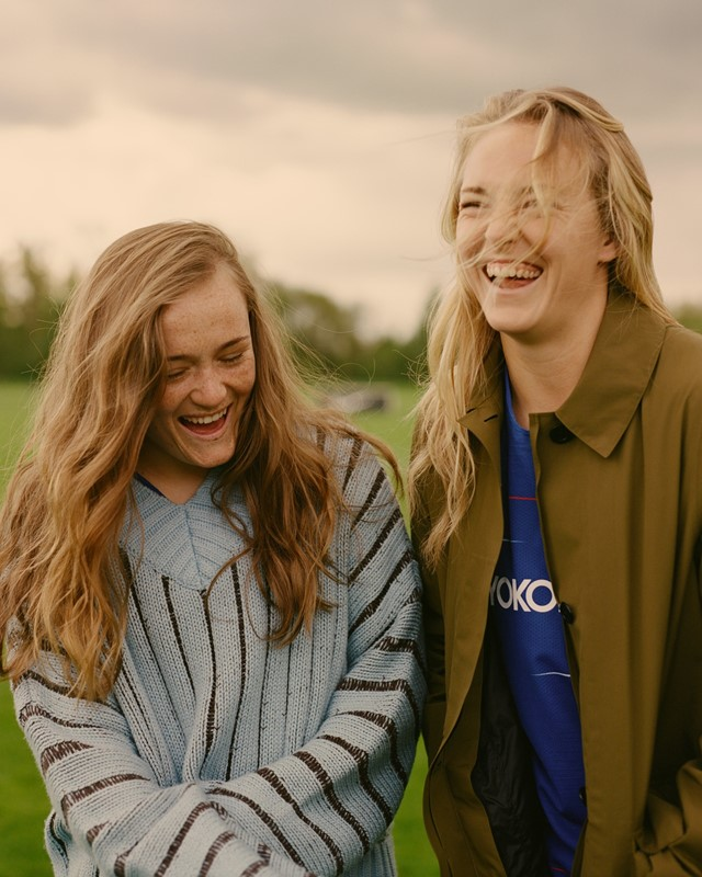 Erin and Magda from Chelsea F.C. Women