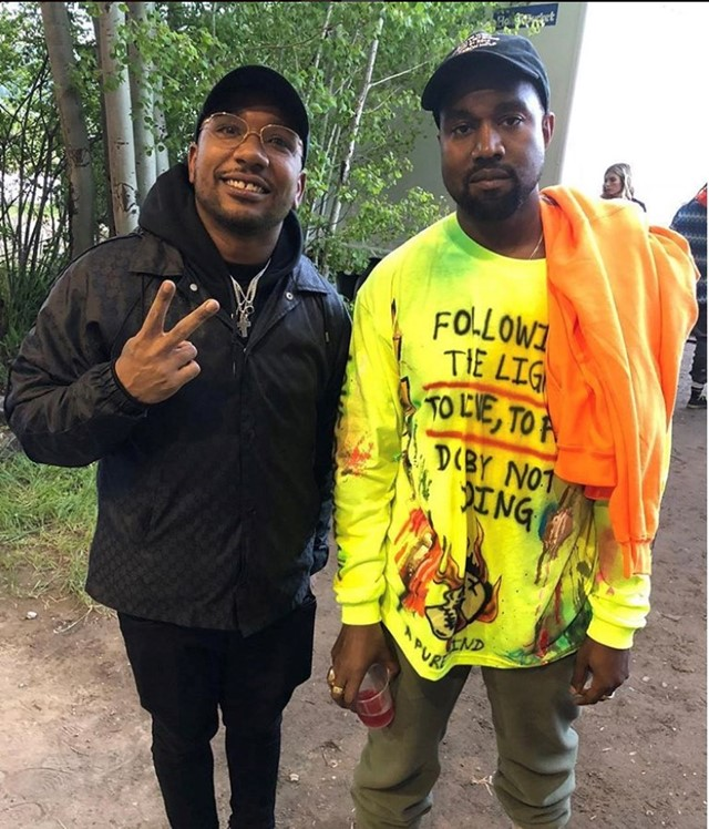 Kanye West at ye listening party in Wyoming