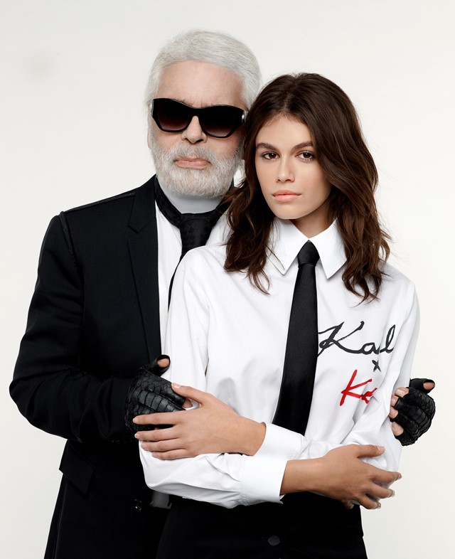 karl Lagerfeld Kaia gerber collaboration fashion collection
