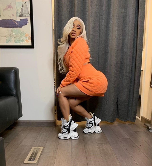 Cardi B ugly sneakers dsquared2 giant