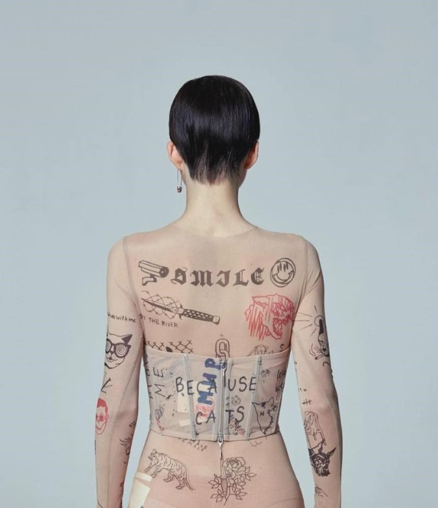 TTSWTRS is the eastern European designer creating wearable tattooed skins