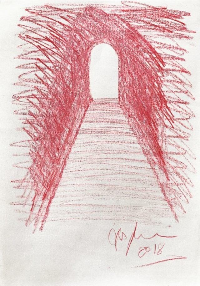 Anish Kapoor crayon art Calais Jungle