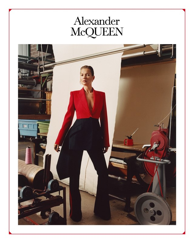 Alexander McQueen AW19 campaign kate moss jamie hawkesworth