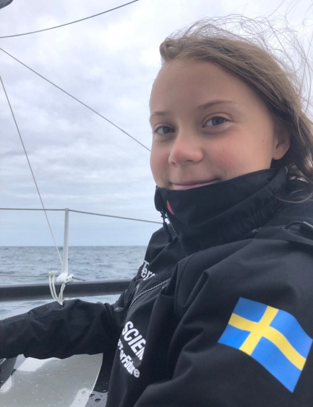 You can now track Greta Thunberg's voyage across the Atlantic Ocean