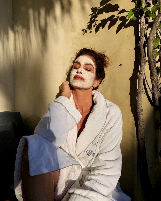 cindy crawford model face mask self-care beauty
