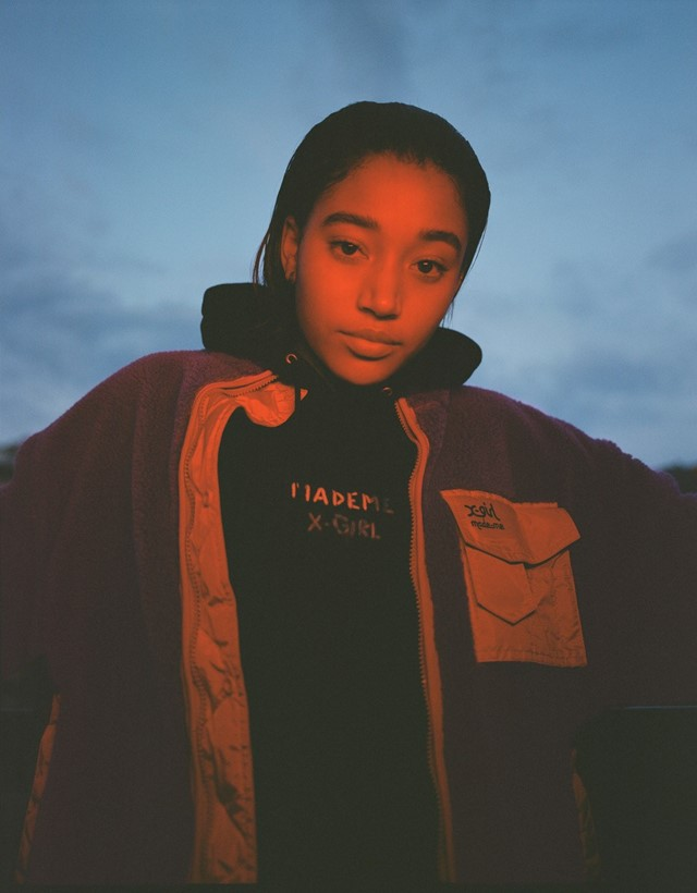 Amandla Stenberg is the star of the new MadeMe x X-girl
