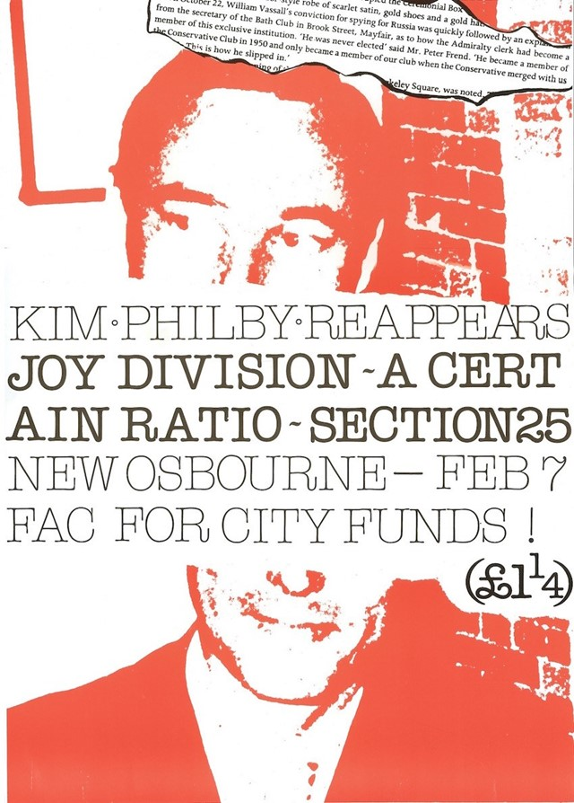 Factory Records, 'Kim Philby Reappears' poster