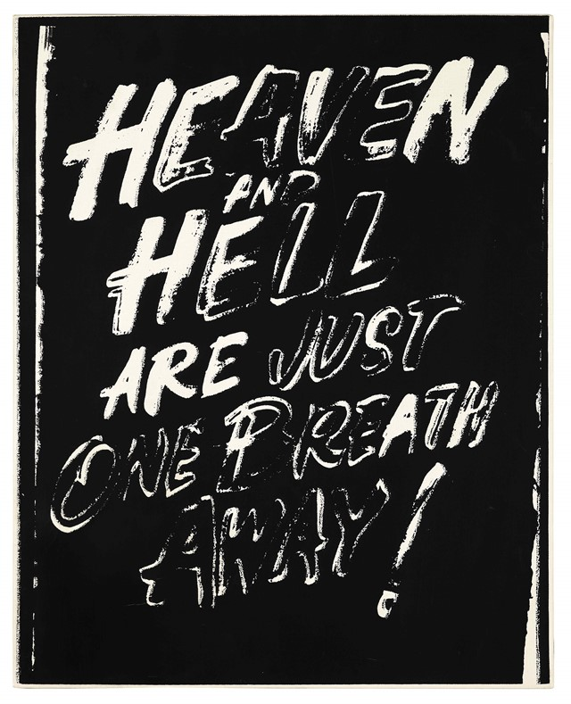 Andy Warhol, Heaven and Hell Are Just One Breath Away