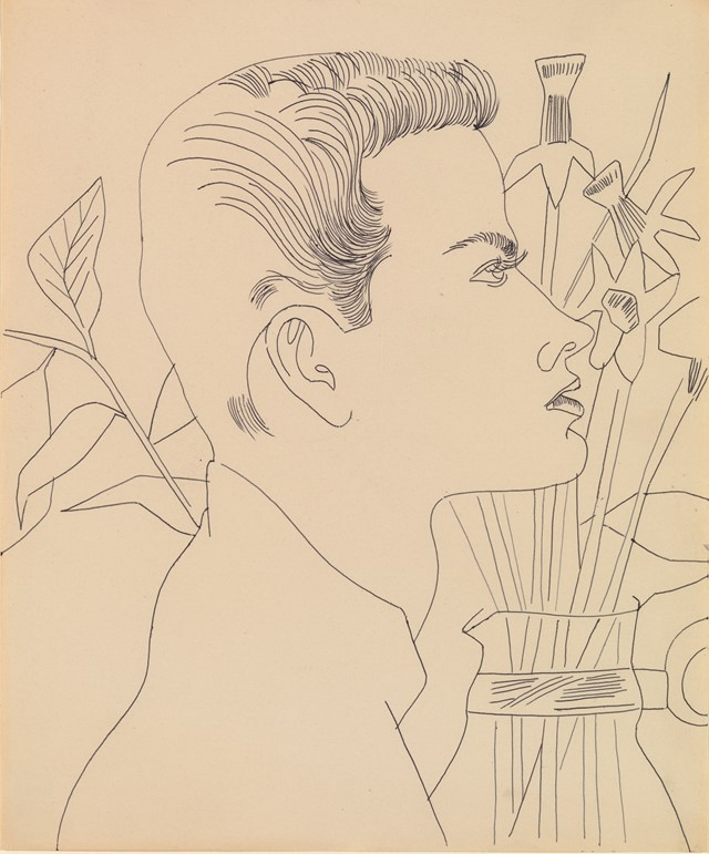Andy Warhol, Boy with Flowers