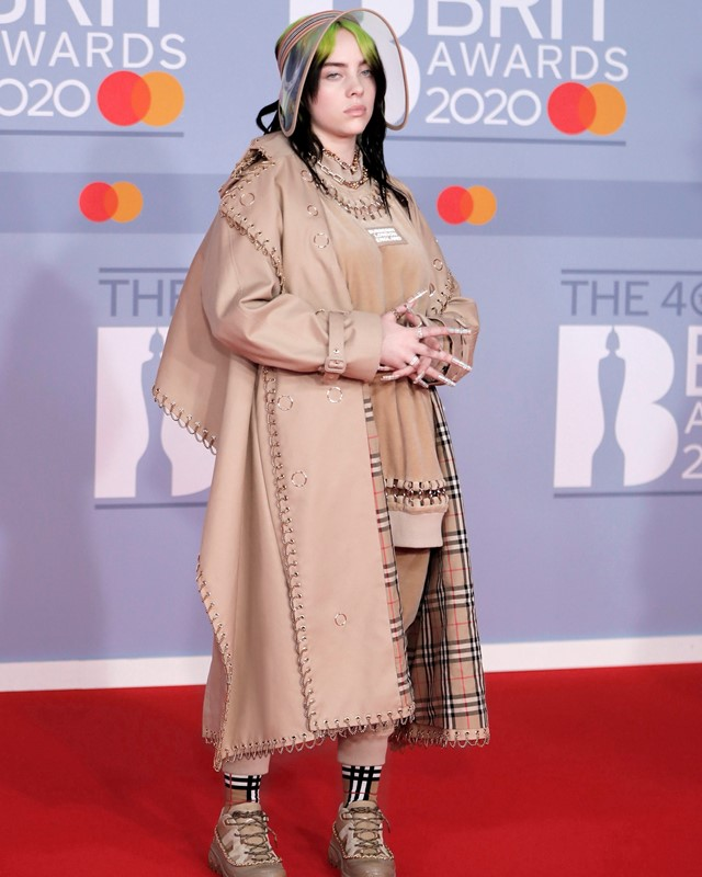 Billie Eilish Burberry at The Brit Awards red carpet
