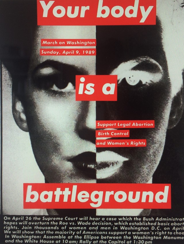 Barbara Kruger, Untitled_(Your_body_is_a_battlegro