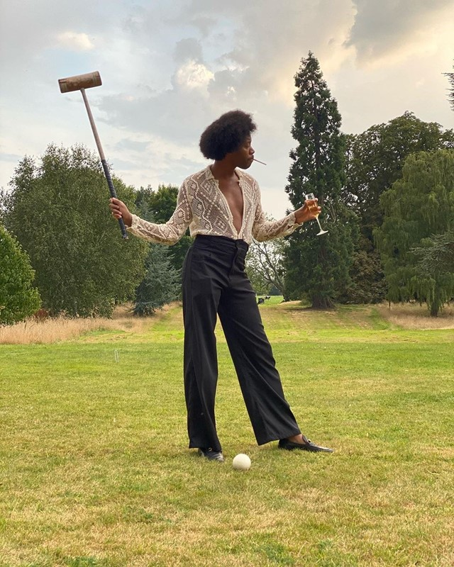 Jeremy O. Harris's croquet outfit