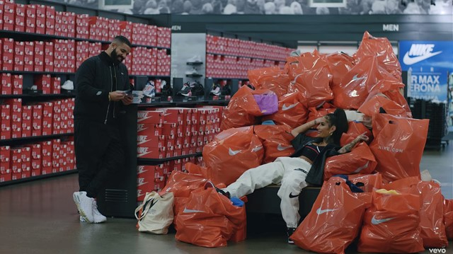 Drake unveils new video, shot at Nike HQ