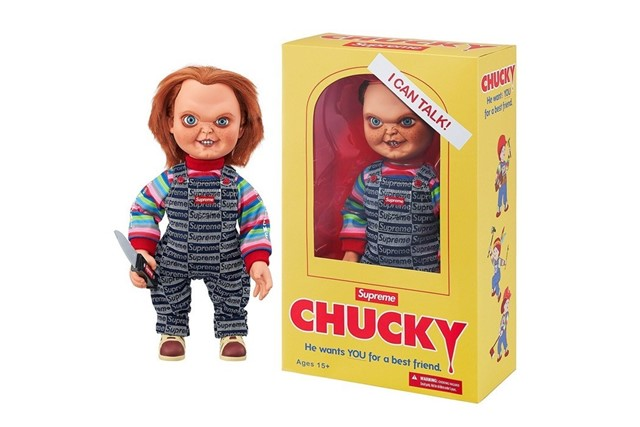 Supreme debuted some toothpaste – and a Chucky doll