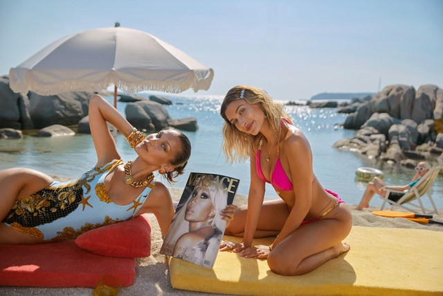 Bella Hadid and Hailey Bieber head for the Med