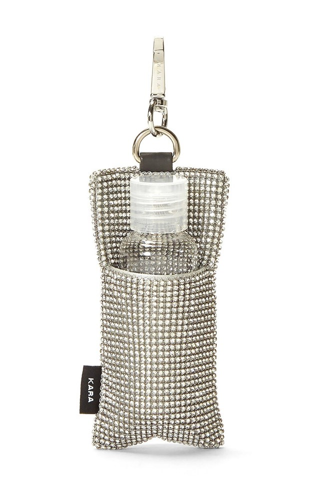 NY label Kara dropped a crystallised hand sanitiser pouch