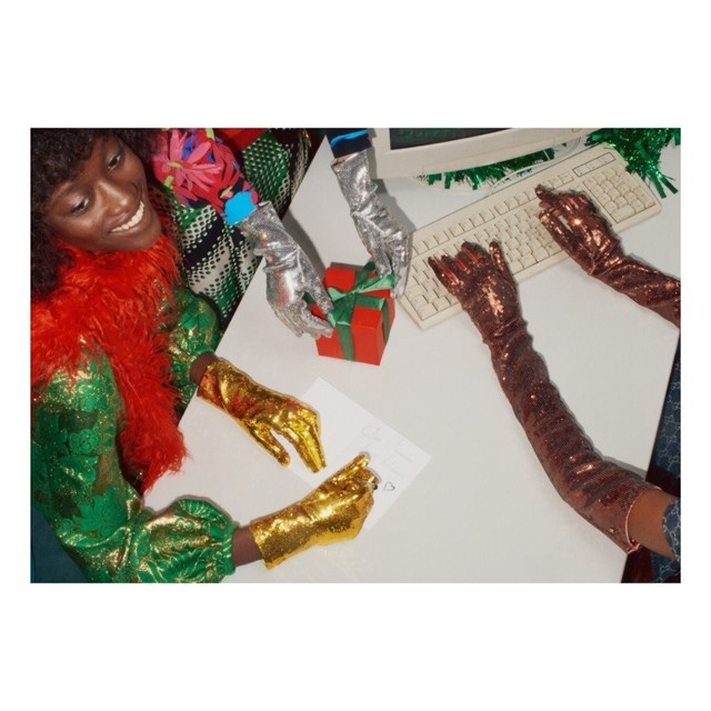 Gucci reminisced about the office Christmas party