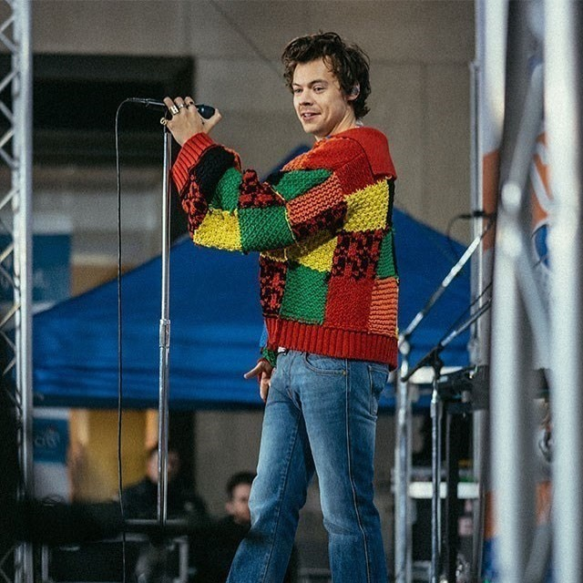 Harry Styles' patchwork cardigan headed for the V&A