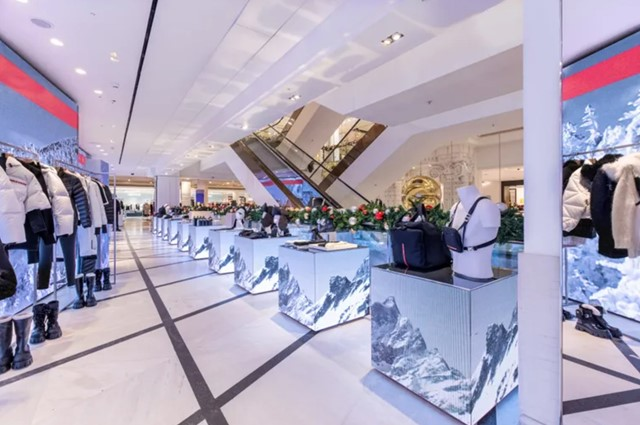 Prada popped up in Selfridges for a wintery takeover