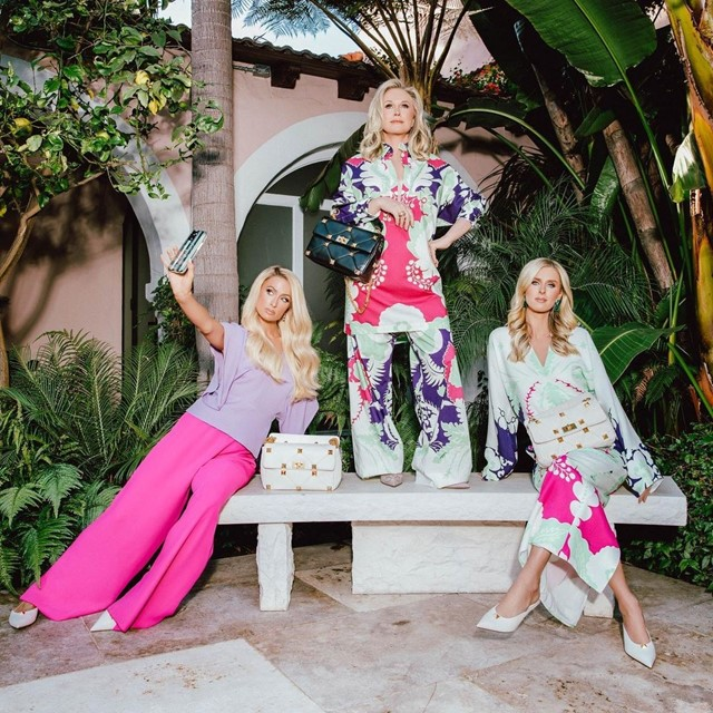 The Hiltons for Valentino? That's hot.