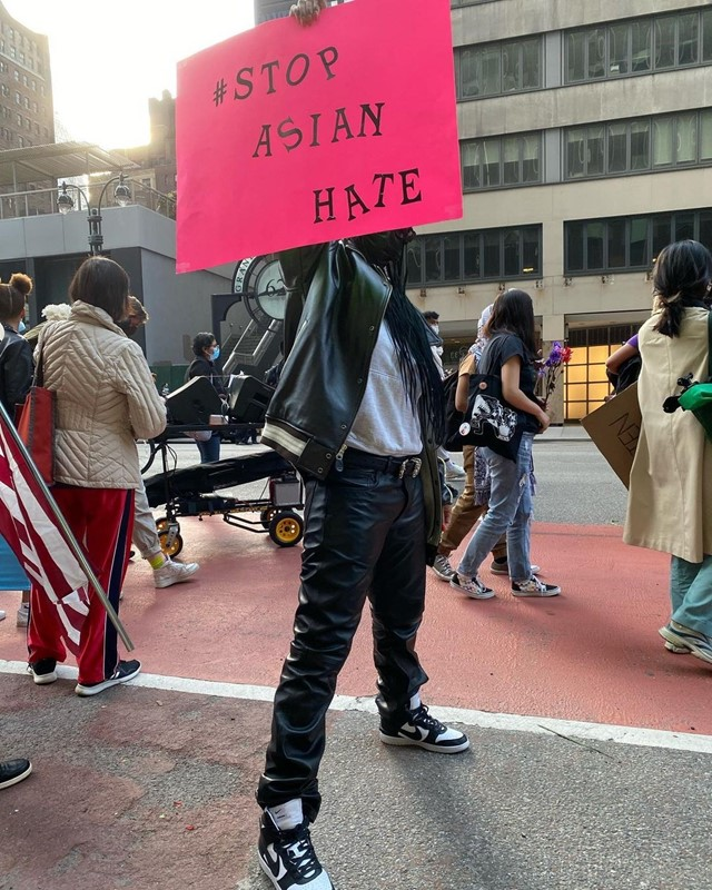 Rihanna, Stop Asian Hate march