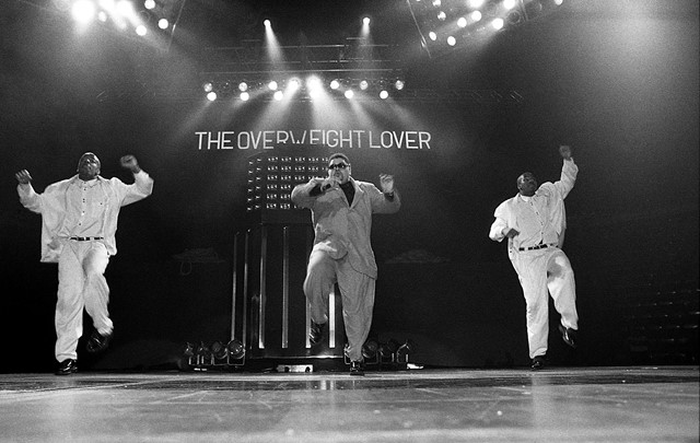 Heavy D & The Boyz perform in Indiana in 1990