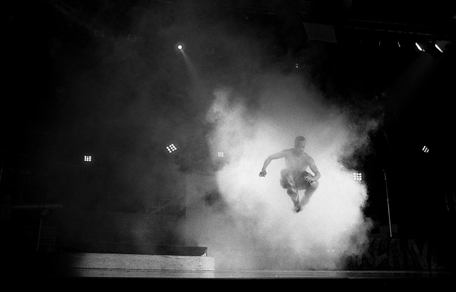 MC Hammer performs at the Fort Wayne Coliseum, Indiana, 1990