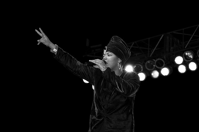 Queen Latifah performs at Genesis Convention Center, 1990