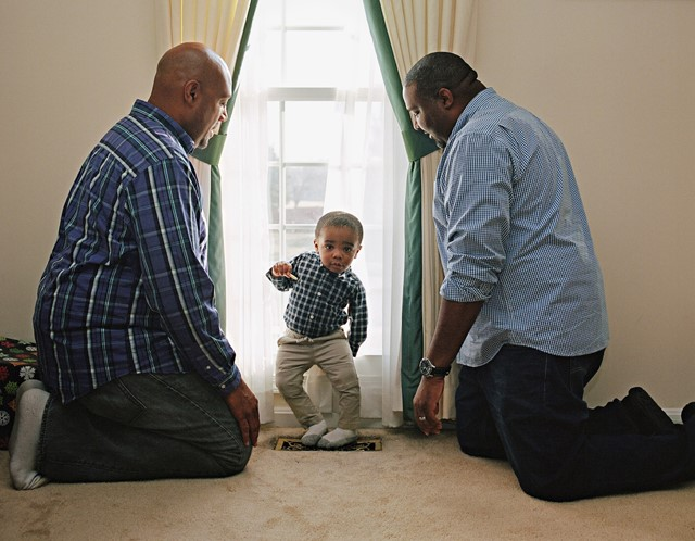 Charles and DaRel with their son Brawden