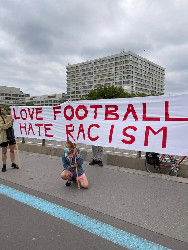 Anti-racist football protest, Westminster