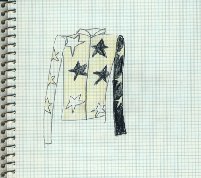 Bella Freud's Star design, to be worn by Tricia Si