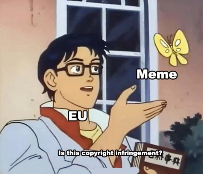 Article 13 copyright meme law passed by EU